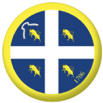Turin Flag 58mm Button Badge